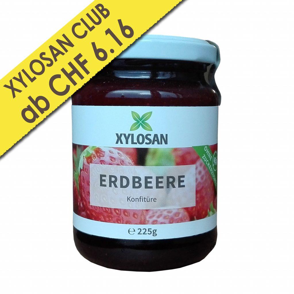 Zuckerfreie Xylit Konfitüre Erdbeeren