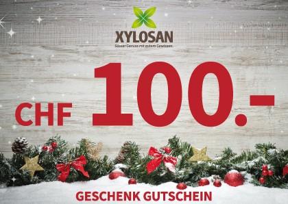 Weihnachtsgeschenk: Gutschein CHF 100.-