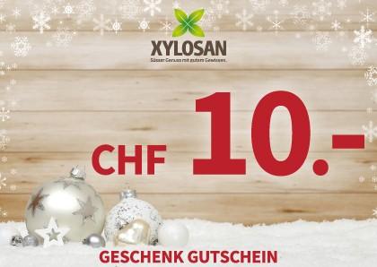 Weihnachtsgeschenk: Gutschein CHF 10.-