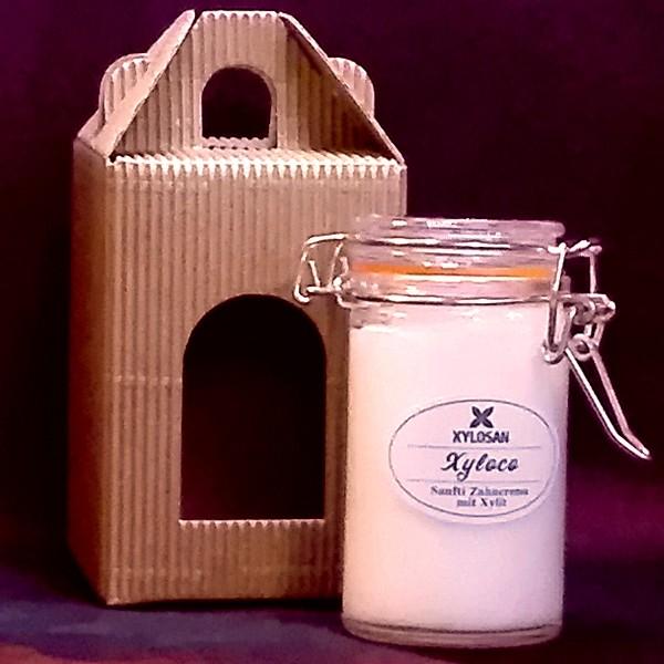 Xyloco Zahncreme-Alternative mit Xylit & Kokosfett als hübsches Geschenk