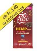 Zuckerfreie Xylit - Schokolade mit Hanfsamen